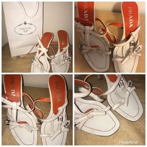 💯% Authentic Prada Open Toe Ankle Strap Sandals